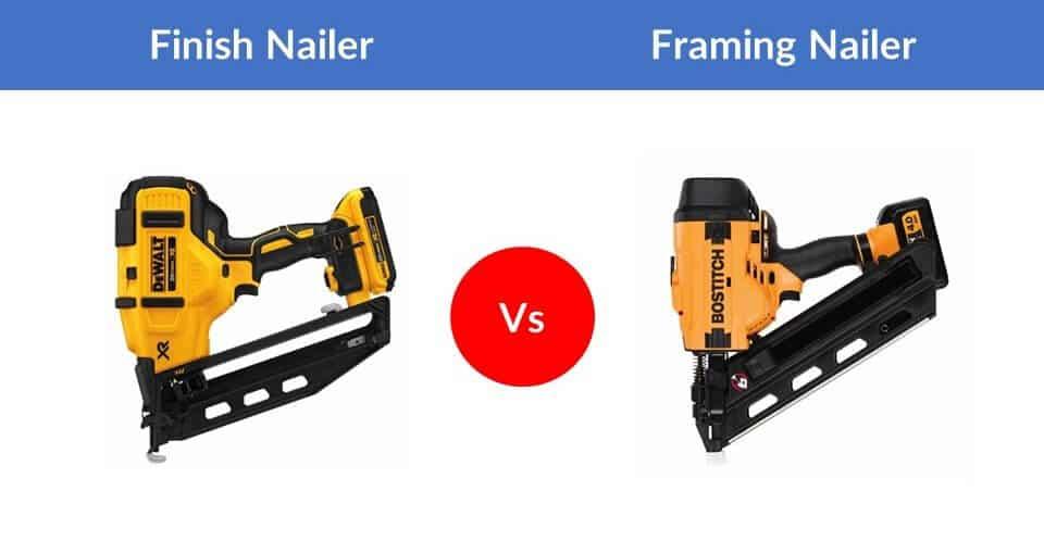 finish vs framing nail gun